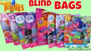 Dreamworks Trolls Blind Bags Series 7 6 4 3 2 1 Light Up Fashions Tags Toy Review Opening
