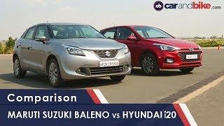 Hyundai i20 Facelift vs Maruti Suzuki Baleno: Petrol Comparison Review