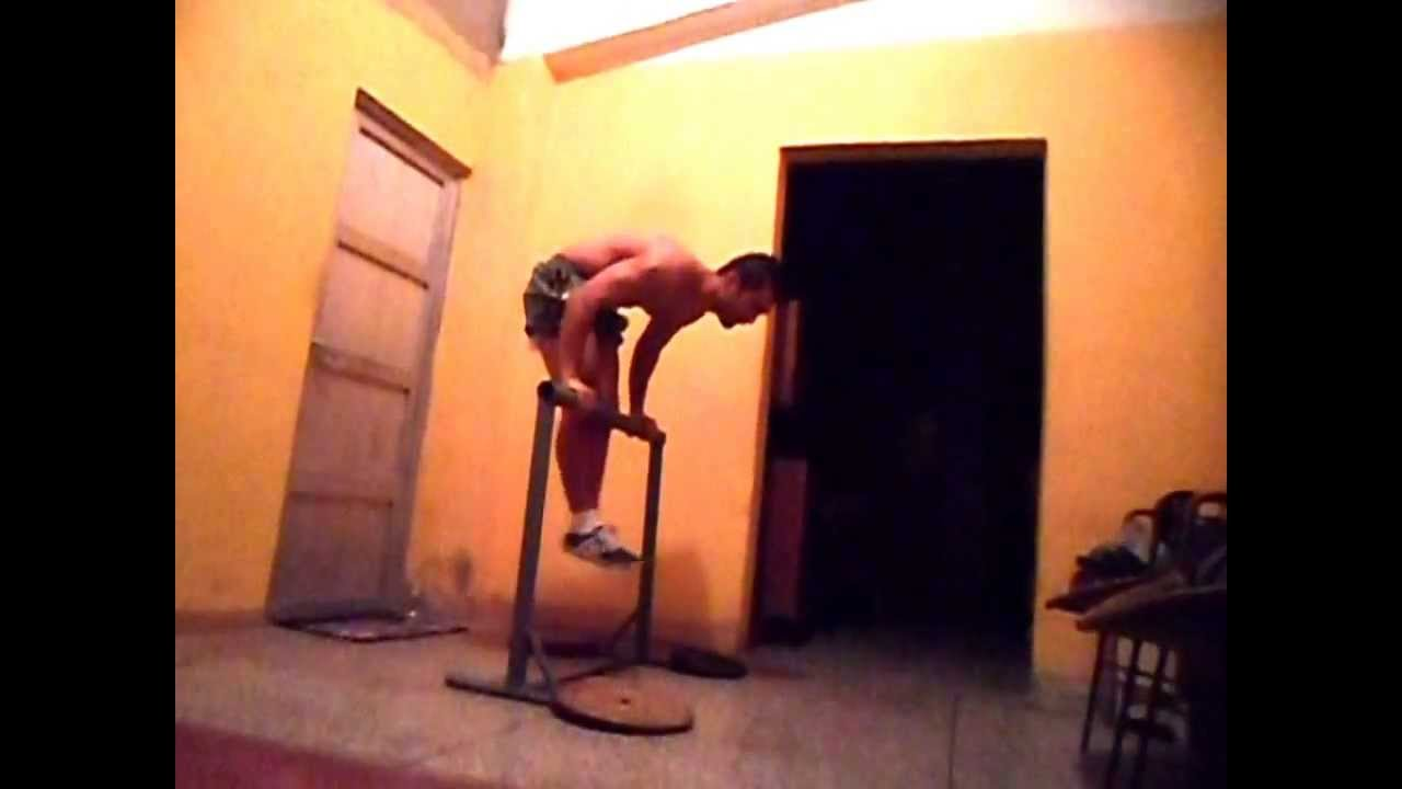 Handstand on Straight Bar