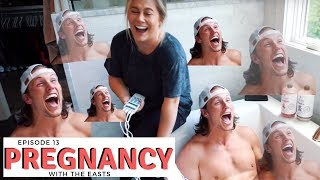 NFL husband tries labor pain simulation · pregnancy | the east family