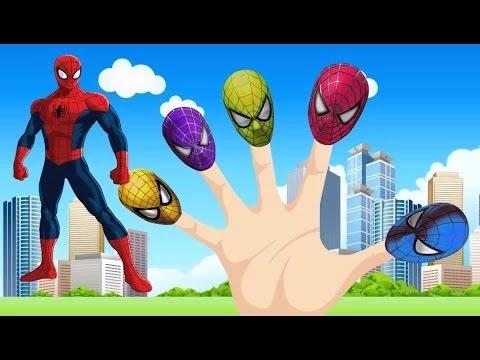Finger Family Spiderman   Spider Man Finger Family Songs   Kids Songs   Popular Nursery Rhymes