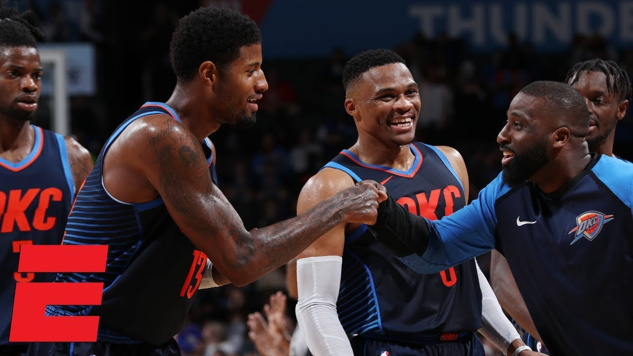 Russell Westbrook, Paul George lead Thunder to first win of season | NBA Highlights