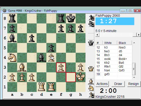 Chess World.net: Blitz #202 vs FishPuppy (2060) - Sicilian Defense : Labourdonnais-Lowenthal