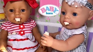 Baby Born videos feeding changing and playtoys baby born zapf creations