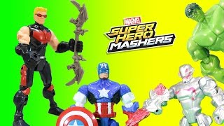 Marvel Avengers Hawkeye Super Hero Mashers Saves Captain America from Ultron!