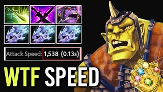 THANOS FULL STONE! 1538 Max Attack Speed Alchemist Butterfly Build Epic Fun Gameplay WTF Dota 2
