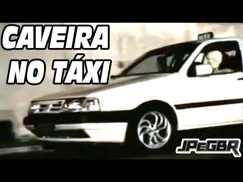 Pegadinha Caveira no Taxi - Silvio Santos