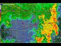 June 30, 2018 Des Moines Epic Flash Flood Event Radar Loop