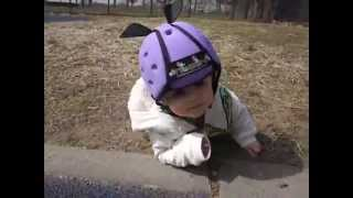 The Twins Take On The Thudguard Baby/ Toddler Helmet!  The Babies Speak Out..NO TEARS!  Pt. 2