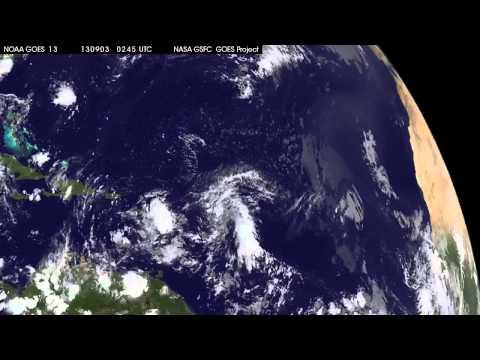Tropical Storm Gabrielle Near Puerto Rico