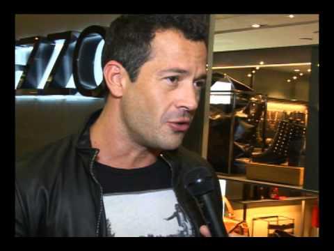Malvino Salvador  na Reinauguração Arezzo Iguatemi São Paulo , entrevistado do Over Fashion