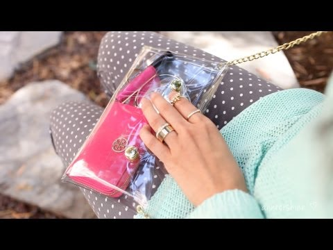 DIY Clear Crossbody Clutch - Cute Summer Trend