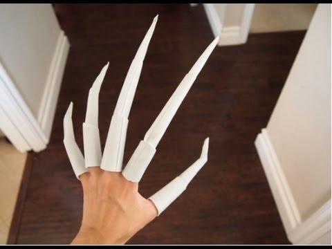 Как сделать из бумаги сделать когти из бумаги на пальцы