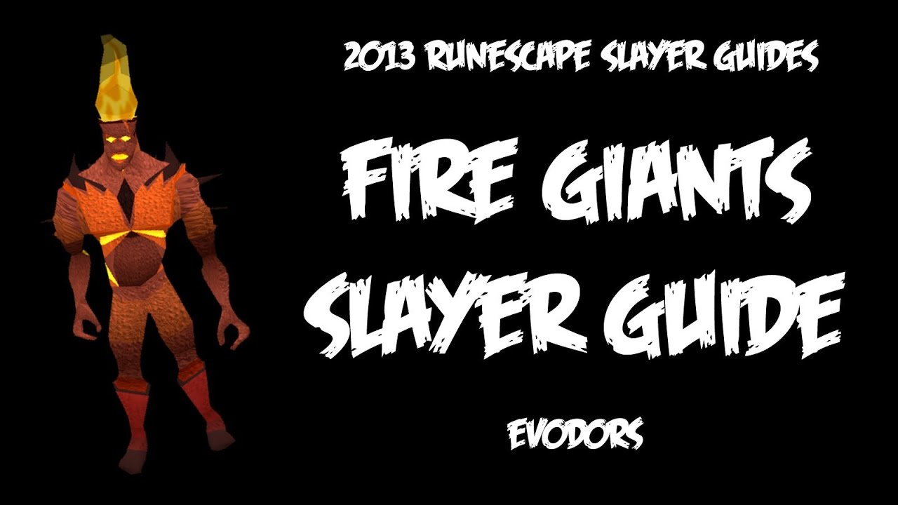 RuneScape - Fire Giants Slayer Guide - YouTube