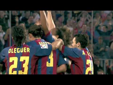 Primer gol de Lionel Messi en Fc Barcelona (HD)