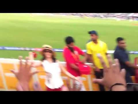Preity Zinta Throwing Shirts In Crowd video