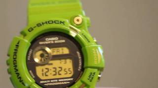 Casio G-Shock GW-200F-3JR Green Frogman Video Review