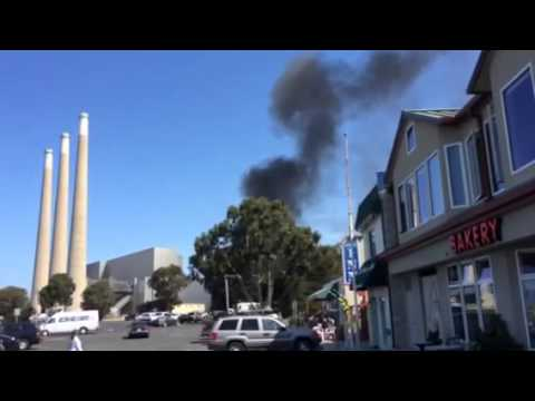 Fire at Morro Bay Power Plant