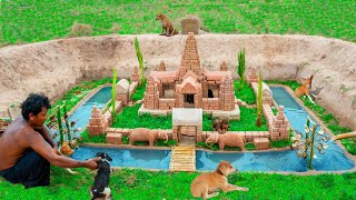 Collect Abandoned Puppy Building Mud Castle Dog In Ancient Style