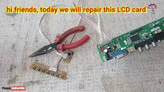 lcd / led card repairing chip level t.r85.031
