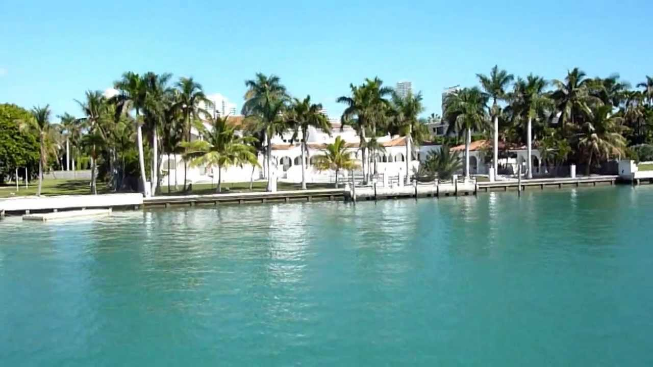 Miami Star Homes Star Island Biscayne Bay by Boat Tour