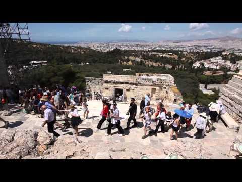 Tourists at the Acropolis, Athens Greece   YouTube