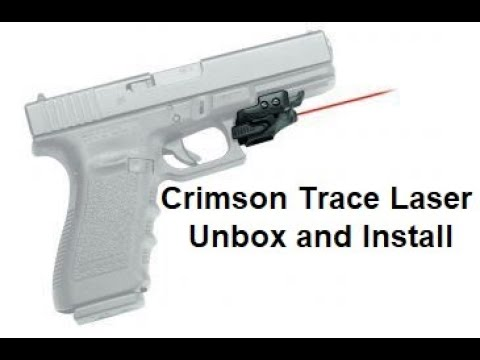 Crimson Trace Rail Master Laser - Unboxing & Install