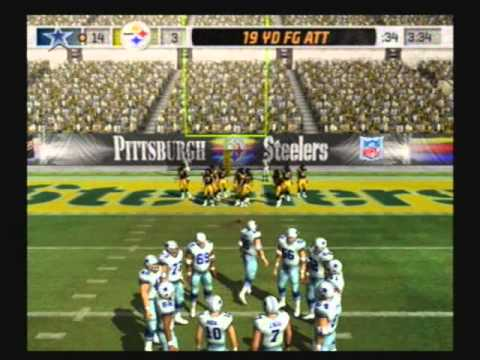 Madden NFL 07 Historic Teams Tournament 1992 Dallas Cowboys vs 1975 Pittsburgh Steelers Video Game Simulation Video Game (Video Game Genre) PlayStation 2 (Video Game Platform) American Football...