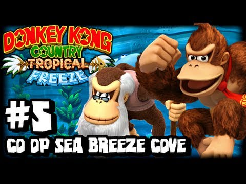 Donkey Kong Country Tropical Freeze (1080p) Part 5 Co Op - World 4 Sea Breeze Cove