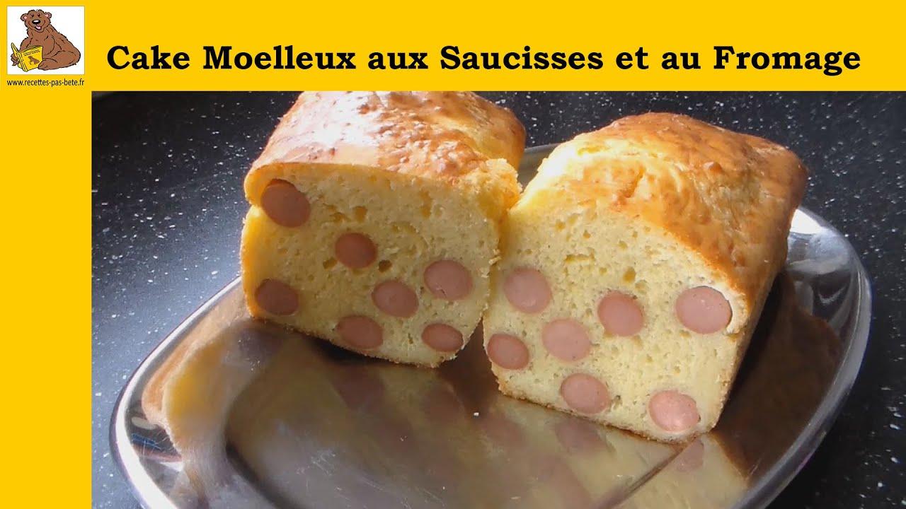 Cake Recette Facile Sale : Cake moelleux aux saucisses et au fromage (recette rapide ...