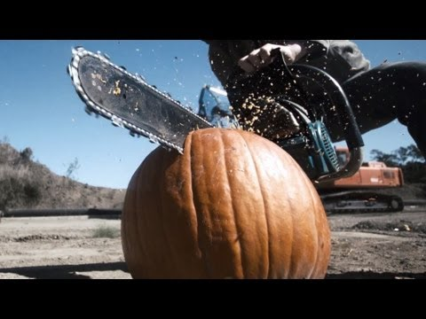 Top 10 Ways To Smash A Pumpkin (Slow Motion)