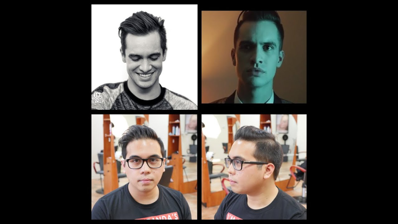 bridal hairstyles with headband : Brendon Urie - Mens Haircut Tutorial - TheSalonGuy - YouTube