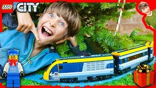 LEGO CITY TRAIN CRASH on our CHRISTMAS TREE!