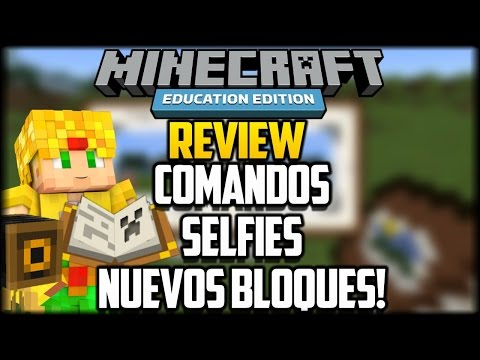 COMANDOS . CAMARA. PORTAFOLIO Y NUEVOS BLOQUES! - Minecraft Education Edition Gameplay