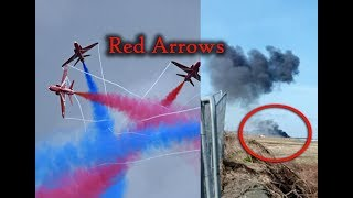 Red Arrows aircraft crashes at RAF Valley on Anglesey, Red Arrows stunt team in Wales,