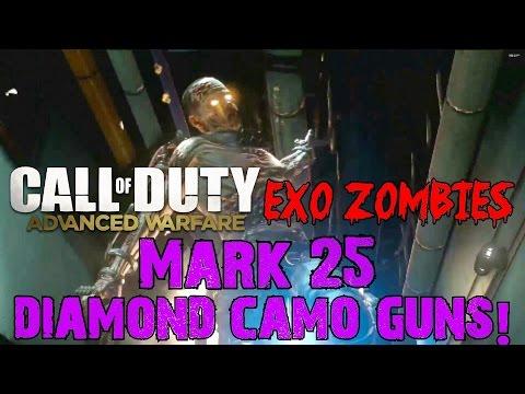 Advanced Warfare EXO ZOMBIES▐ Mark 25 Diamond Camo Guns Easter Egg!