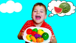 Learn names of fruits and vegetables with toy