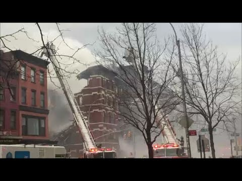 FDNY Major Emergency 10-60 7th Alarm Building Explosion & Collapse In East Village Manhattan