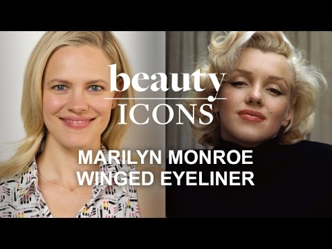 How to Get Marilyn Monroe's Winged Eyeliner-Celebrity Makeup Tutorial-Style.com's Beauty Icons