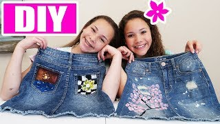 DIY Blue Jean Art!  (Sierra & Olivia Haschak)