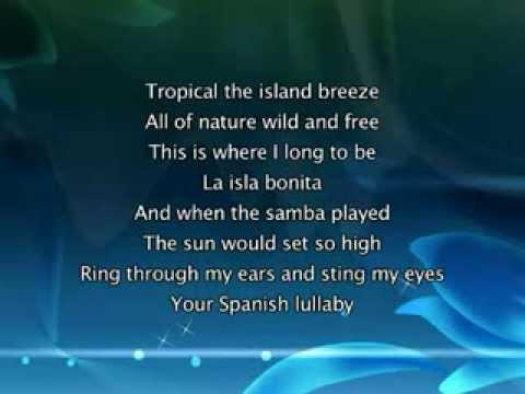 Madonna   La Isla Bonita, Lyrics In Vide video