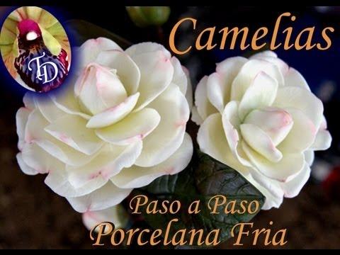 Flores Porcelana fria: Camelias Paso a paso