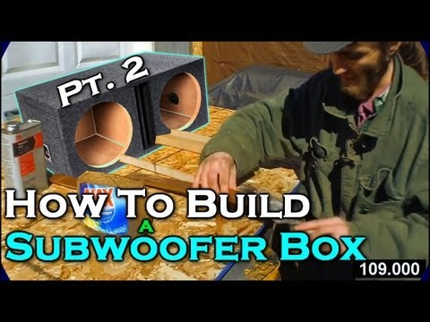 "How To Build A Subwoofer Box 2 | Beginner Car Audio Tutorial - Dual 12"" Custom Ported Sub Enclosure"