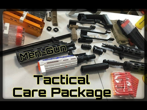 Tactical Unboxing! HUGE NERF CARE PACKAGE FROM MEN-GUN