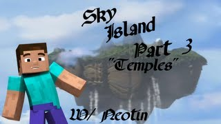 Sky Island Part 3 Temple Island 3 (Minecraft Custom Map)