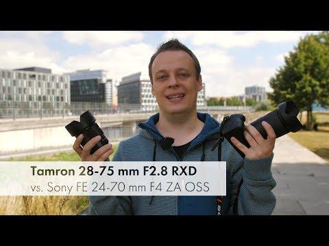 Tamron 28-75 mm F2.8 vs. Sony FE 24-70 mm F4 | Standardzoom für Sony E-Mount im Vergleich [Deutsch]