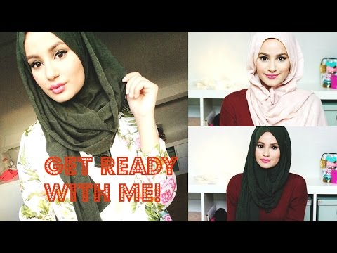 Get Ready With Me! Make-up Tutorial, Hijab Tutorial & Ootd! video