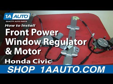 How To Install Replace Rear Power Window Regulator Honda