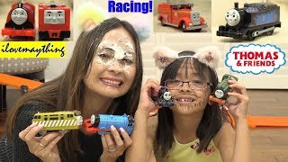 Kids' TOY Racing Playtime! Thomas the Tank Engine and Friends Racing. Racing Toy Trains. Toy Channel