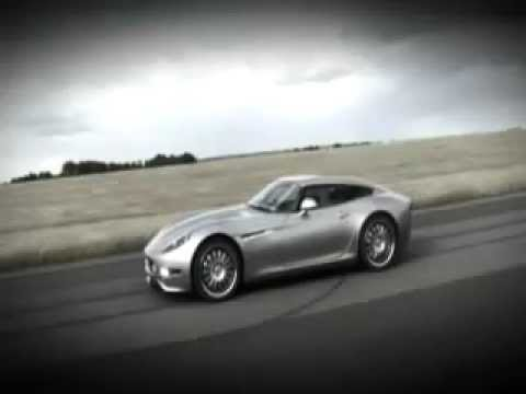 Lightning GT battery electric sports car with 4 wheel motors
